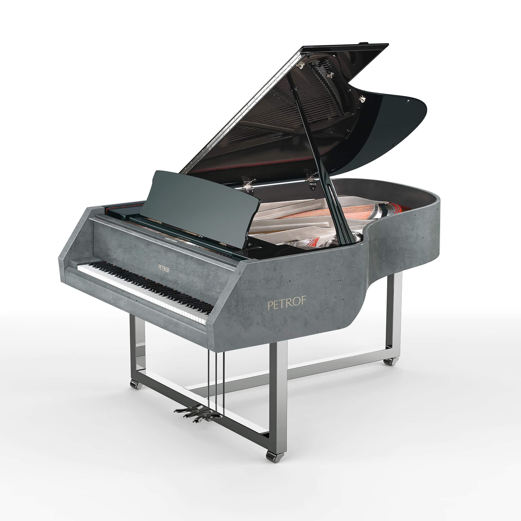Betonové piano Gravelli & PETROF