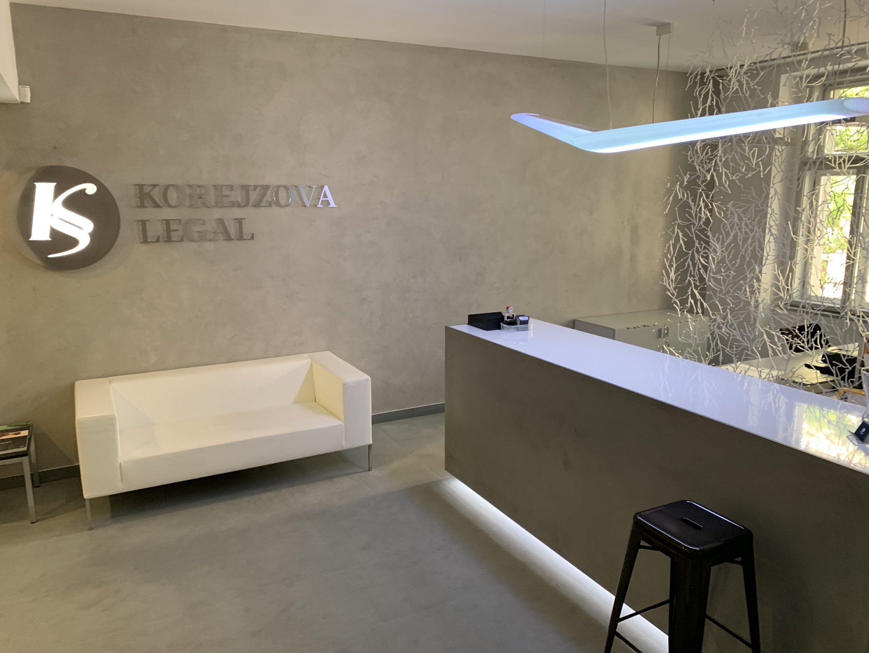 Recepční pult, Advokátní kancelář, Praha